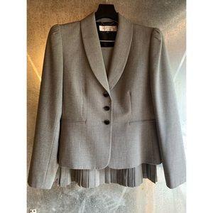 2 Piece Black & White Tahari Jacket & Skirt Suit